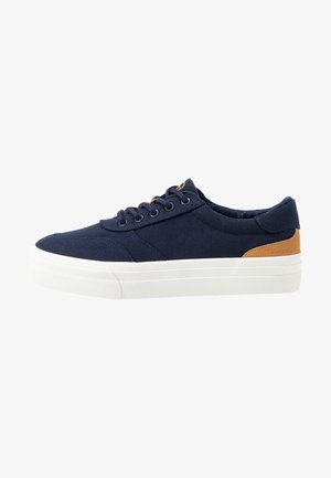 LACE UP - Sneakersy niskie - navy