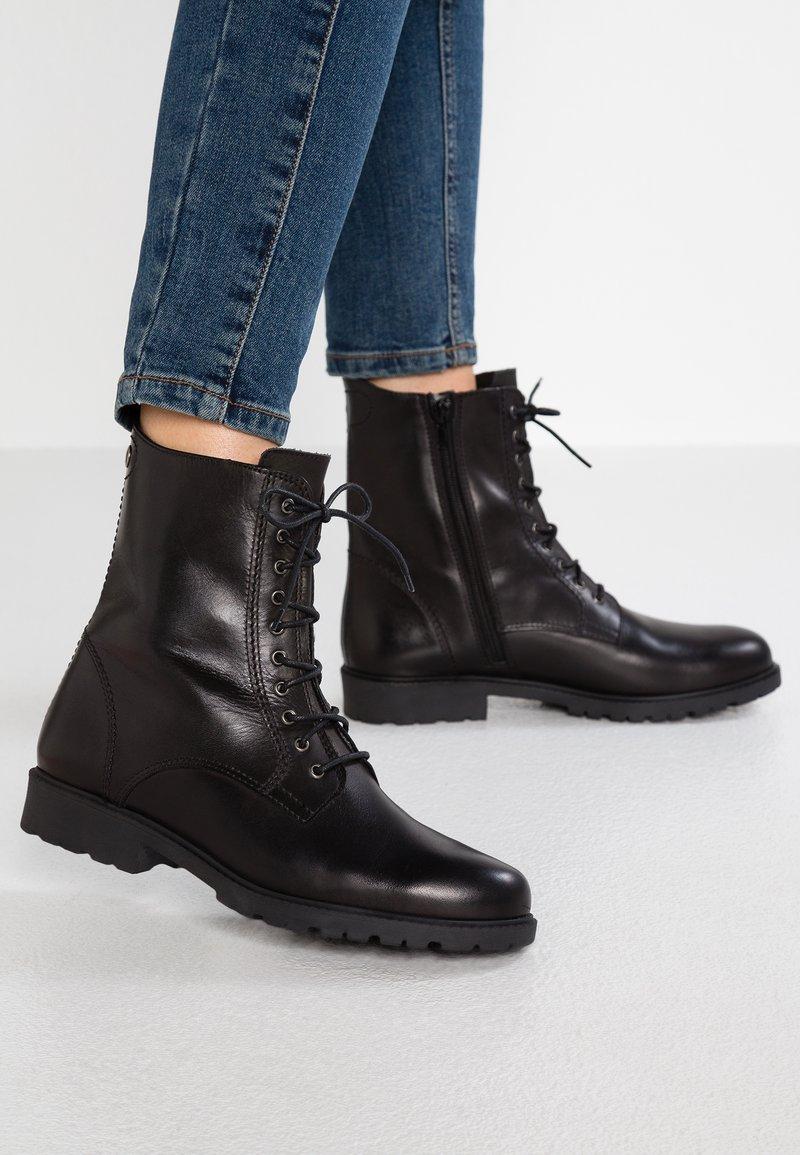 Tamaris - Lace-up ankle boots - black