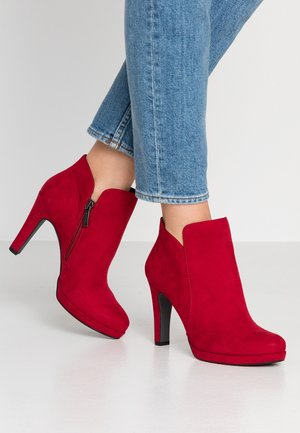 WOMS BOOTS - High heeled ankle boots - lipstick