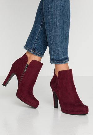 WOMS BOOTS - High heeled ankle boots - vine