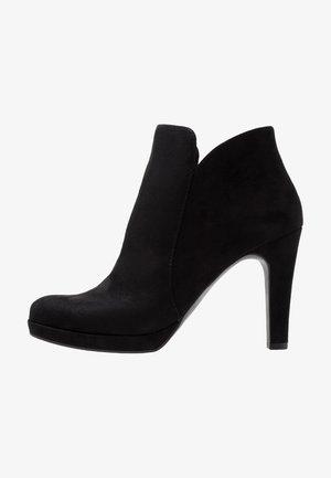 WOMS BOOTS - Bottines à talons hauts - black