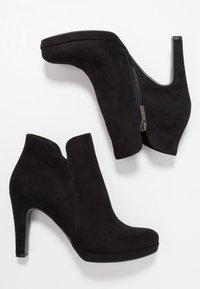 Tamaris - WOMS BOOTS - Botines de tacón - black - 3