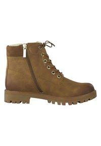 Tamaris - Šněrovací kotníkové boty - brown - 4