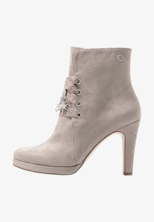 DA.-STIEFEL - High heeled ankle boots - antelope
