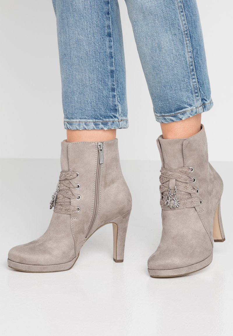 Tamaris - High heeled ankle boots - antelope