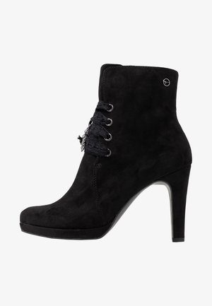 DA.-STIEFEL - High heeled ankle boots - black