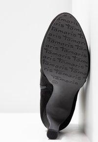 Tamaris - DA.-STIEFEL - Kotníková obuv na vysokém podpatku - black - 6