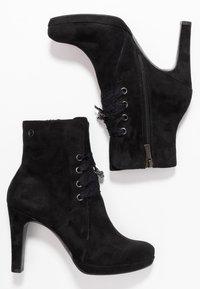 Tamaris - DA.-STIEFEL - Kotníková obuv na vysokém podpatku - black - 3
