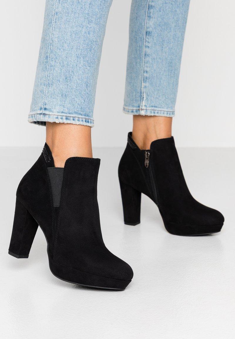 Tamaris - High Heel Stiefelette - black