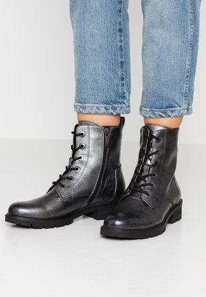 Lace-up ankle boots - dark pewter