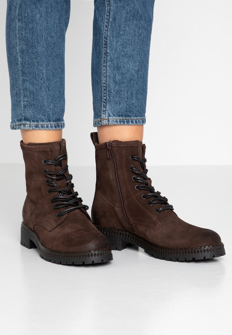 Tamaris - Lace-up ankle boots - cafe