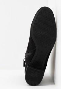 Tamaris - Šněrovací kotníkové boty - black - 6