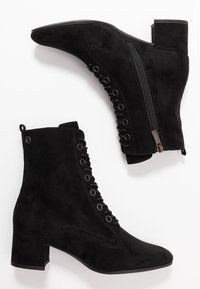 Tamaris - Šněrovací kotníkové boty - black - 3