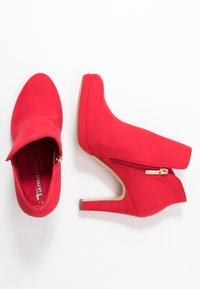 Tamaris - High heeled ankle boots - fire - 3