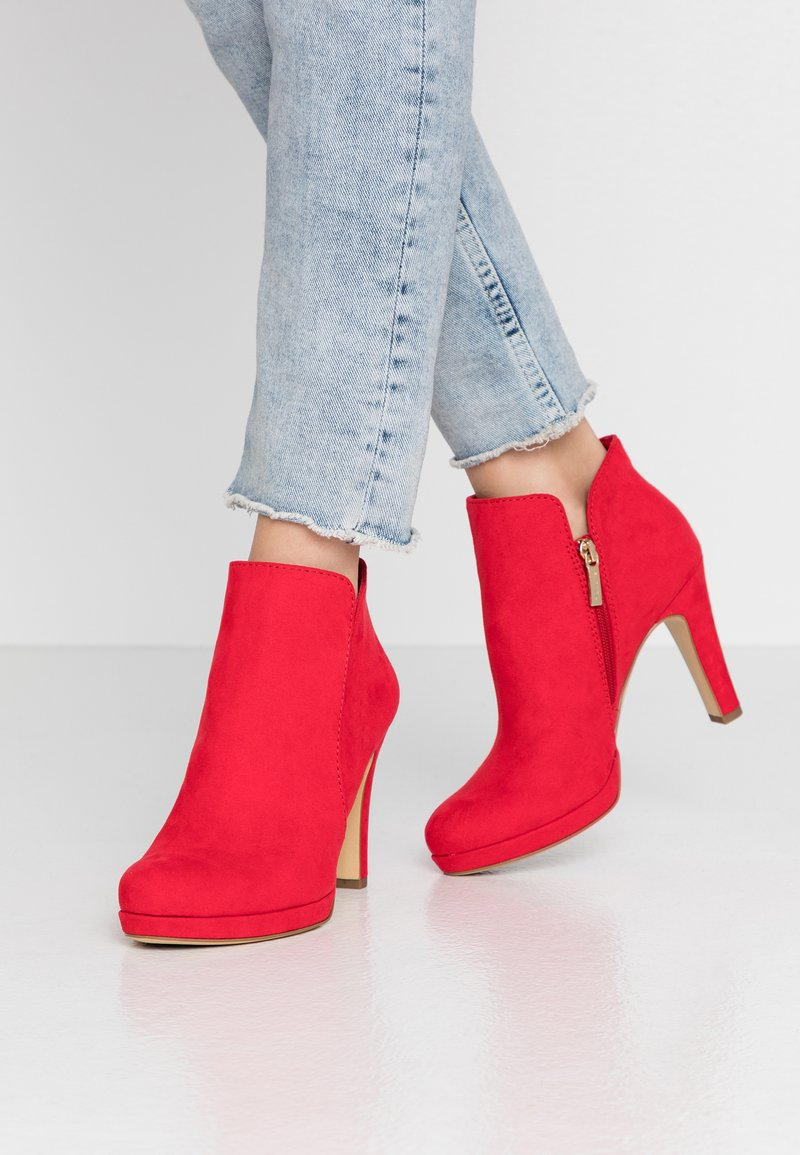 Tamaris - High heeled ankle boots - fire