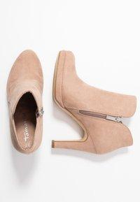Tamaris - Kotníková obuv na vysokém podpatku - old rose - 3