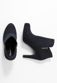 Tamaris - High heeled ankle boots - navy - 3