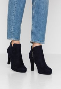 Tamaris - High heeled ankle boots - navy - 0