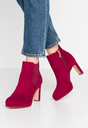 DA.-STIEFEL - High heeled ankle boots - cranberry