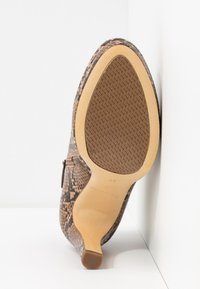Tamaris - Kotníková obuv na vysokém podpatku - nut - 6