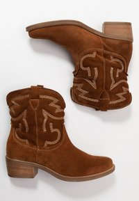Tamaris - BOOTS - Cowboy/biker ankle boot - cognac - 3