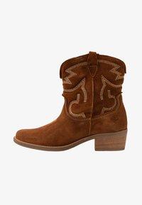 Tamaris - BOOTS - Cowboy/biker ankle boot - cognac - 1