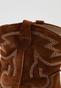 Tamaris - BOOTS - Cowboy/biker ankle boot - cognac - 2