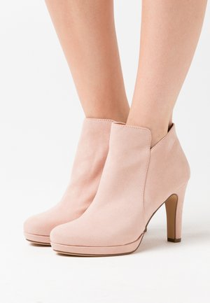 WOMS BOOTS - High Heel Stiefelette - rose