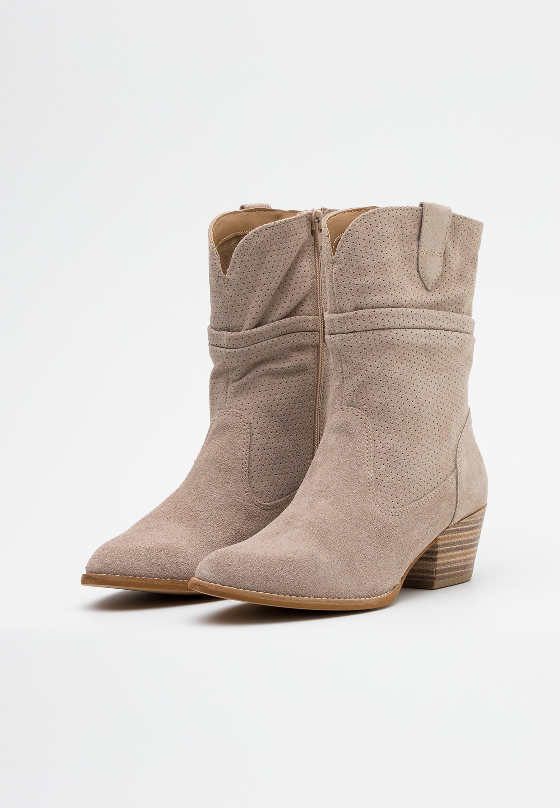 Tamaris BOOTS - Cowboy-/Bikerstiefelette - taupe | Damen Schuhe 2020