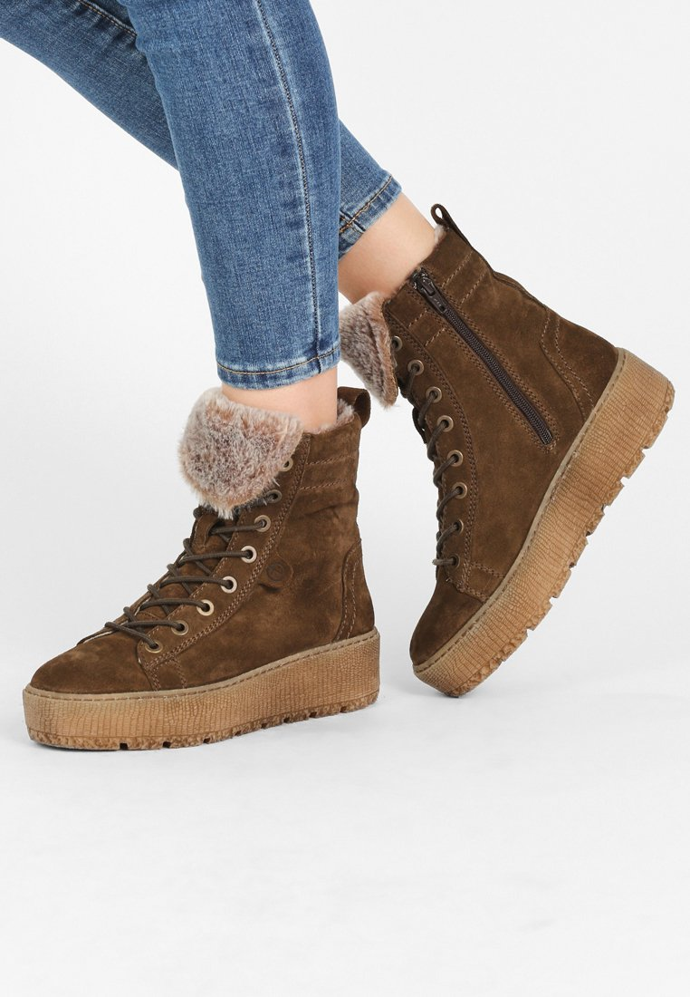 Tamaris - Lace-up ankle boots - olive