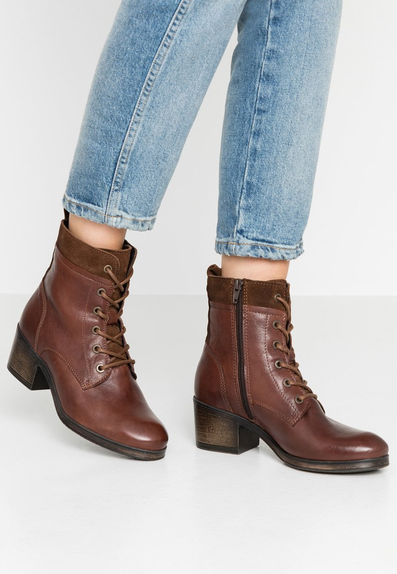 Tamaris - Lace-up ankle boots - cacao