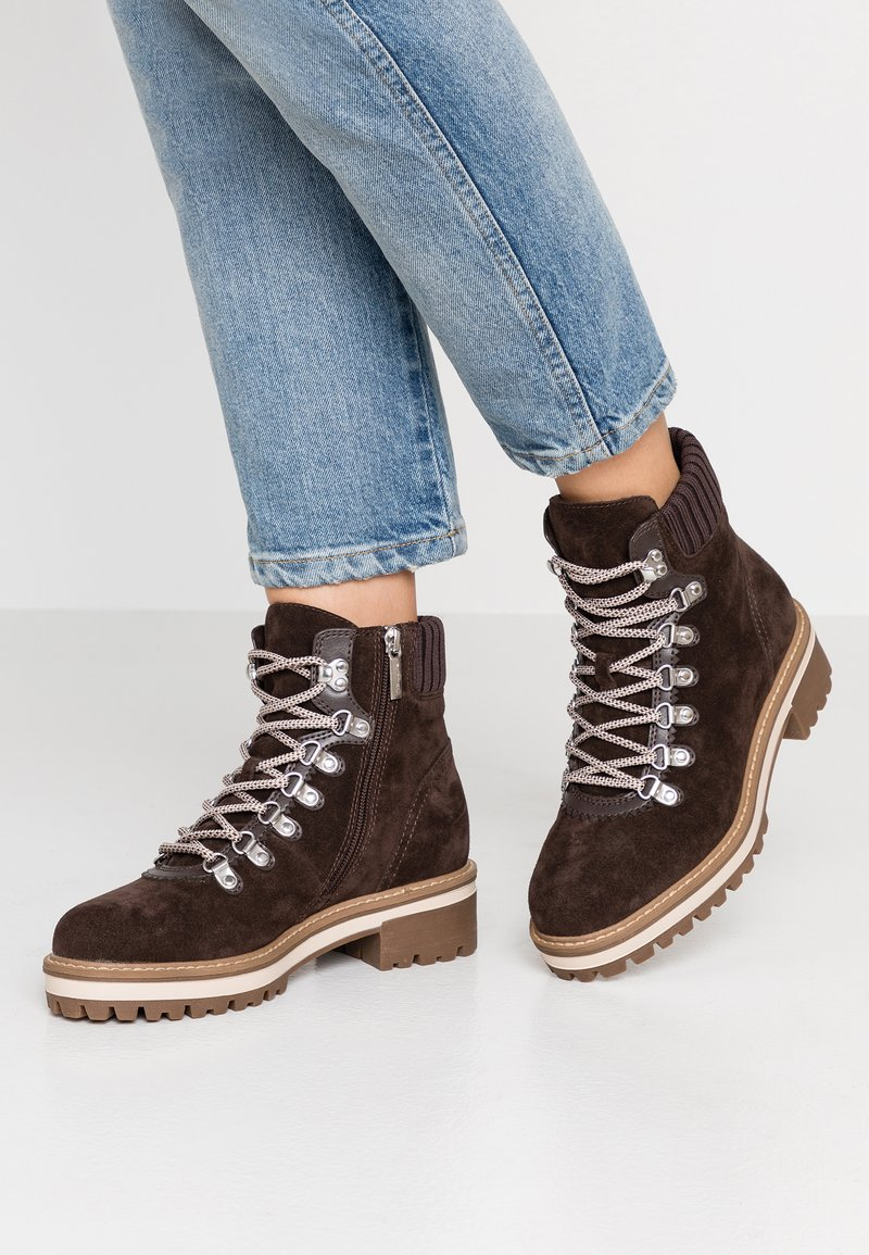 Tamaris - Lace-up ankle boots - mocca