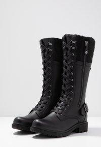 Tamaris - Šněrovací vysoké boty - black - 4