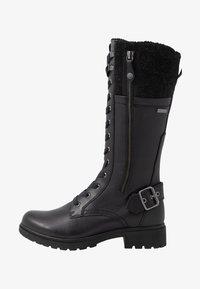 Tamaris - Šněrovací vysoké boty - black - 1