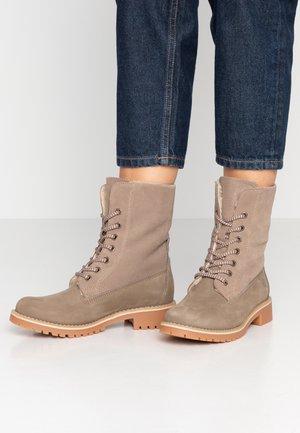 Boots - Botines con cordones - taupe