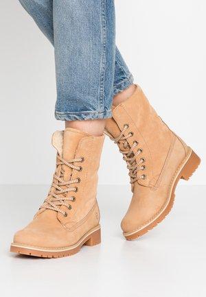 Boots - Šněrovací kotníkové boty - desert
