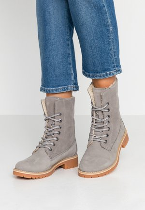 Boots - Lace-up ankle boots - light grey