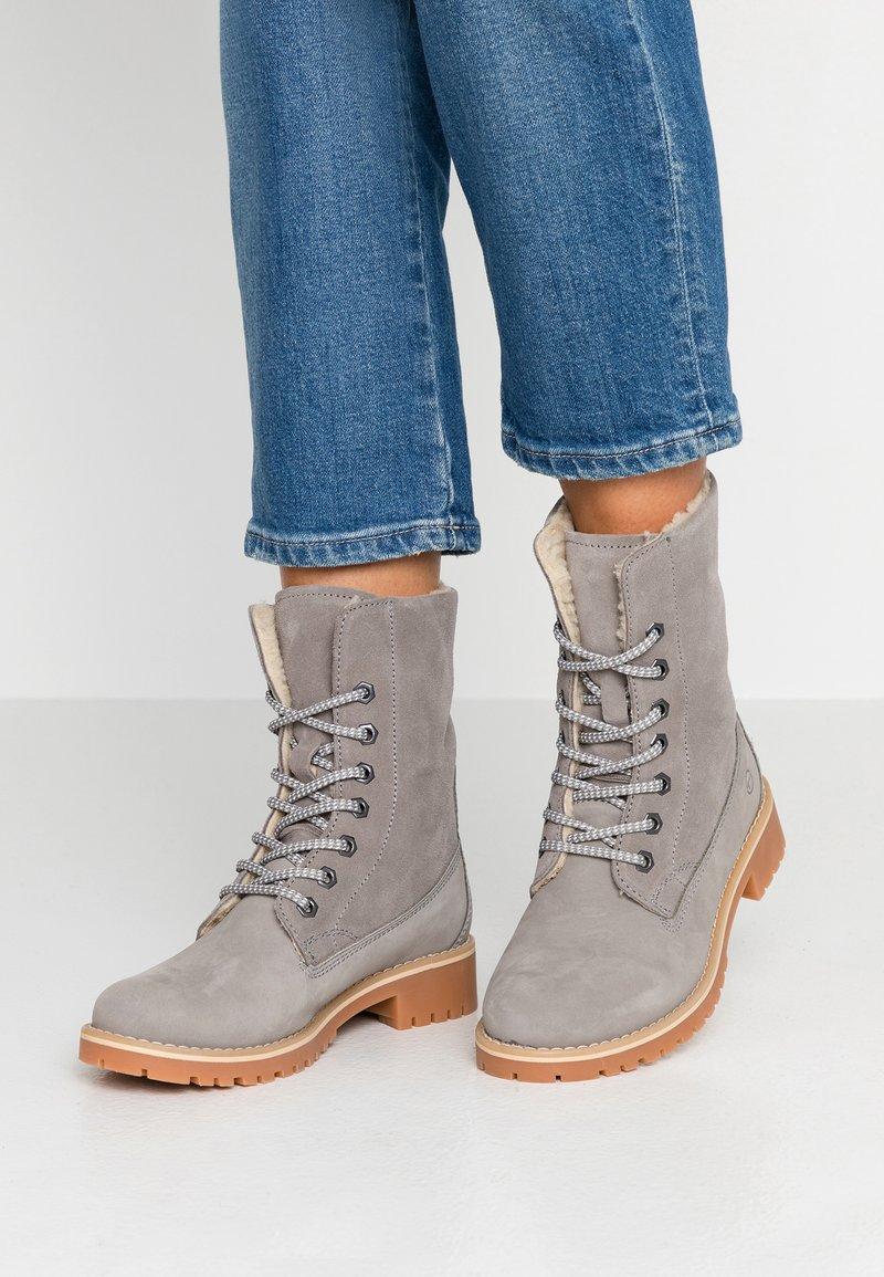 Tamaris - Boots - Schnürstiefelette - light grey