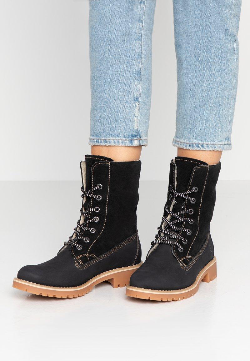 Tamaris - Boots - Snørestøvletter - black