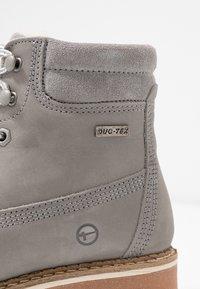 Tamaris - Šněrovací kotníkové boty - light grey - 2