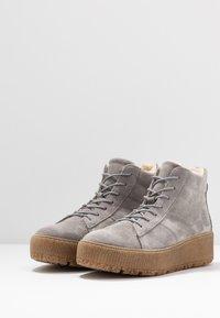Tamaris - Platform ankle boots - light grey - 4