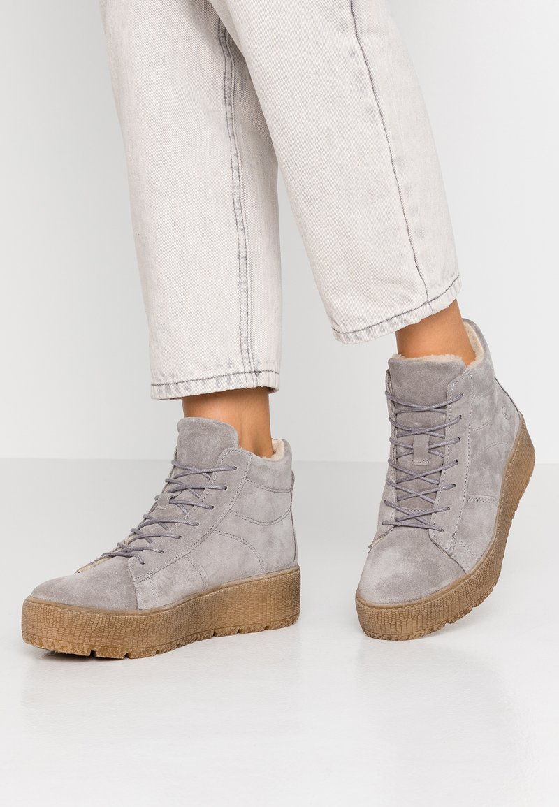 Tamaris - Platform ankle boots - light grey