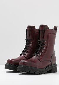 Tamaris - Platform ankle boots - bordeaux - 4