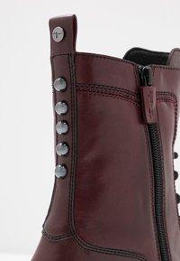 Tamaris - Platform ankle boots - bordeaux - 2