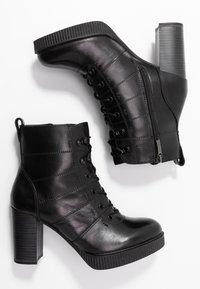 Tamaris - Kotníková obuv na vysokém podpatku - black - 3