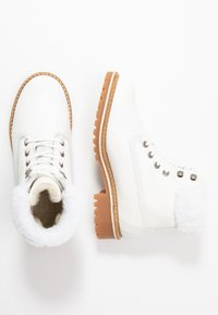 Tamaris - Lace-up ankle boots - white - 3