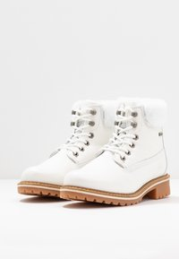 Tamaris - Lace-up ankle boots - white - 4