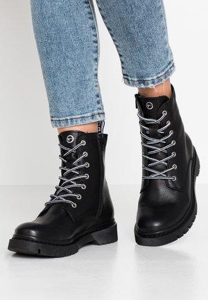 BOOTS - Snörstövletter - black