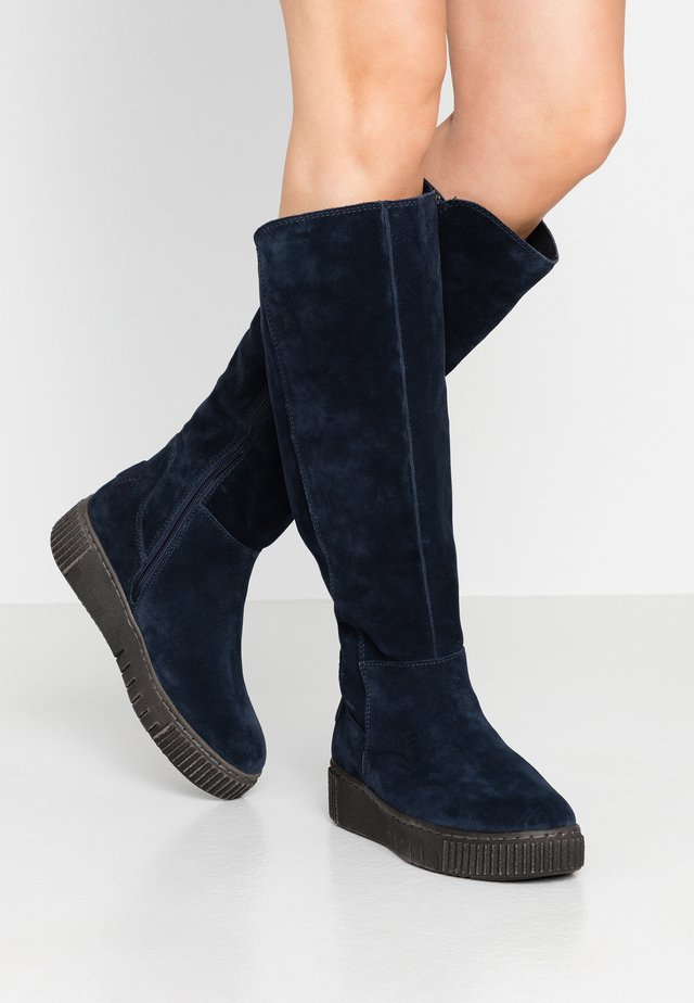 Platform boots - navy
