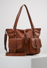 Tamaris - BERNADETTE - Shopping Bag - cognac - 0